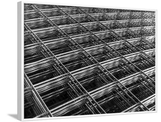 Steel Mesh Pattern--Framed Photographic Print