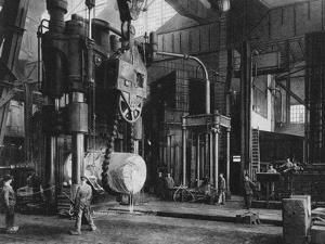 Steel Production, Krupp Factory, Essen, Germany, World War I, 1917