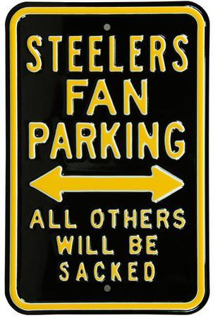 Steelers Sacked Parking Steel Sign