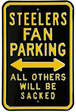 Steelers Sacked Parking Steel Sign
