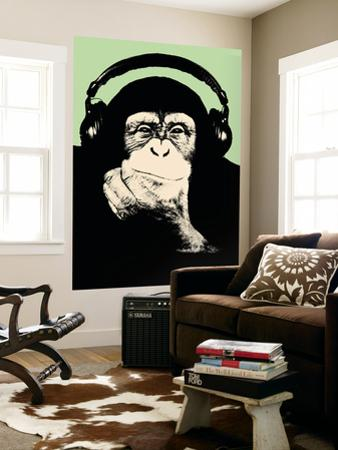 Headphone Chimp - Green by Steez