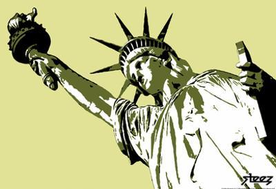 Steez Lady Liberty Art Poster Print