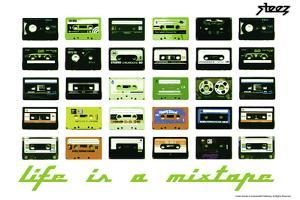 Steez Life Is A Mixtape - Green Poster