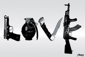 Love (Weapons) Black & White by Steez