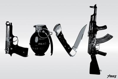 Love (Weapons) Black & White