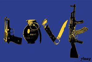 Love (Weapons) Blue Steez Poster by Steez