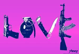 Love (Weapons) Purple Steez Poster by Steez