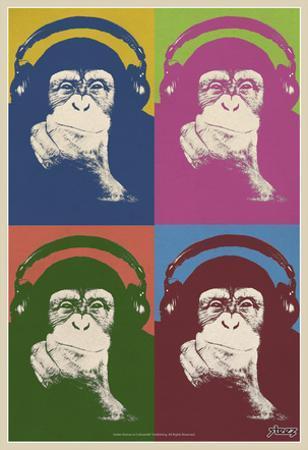 Steez Monkey Headphones Quad Pop-Art