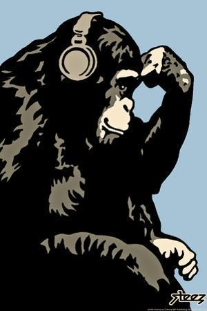 Monkey Thinker - Blue