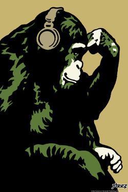 Monkey Thinker - Gold by Steez