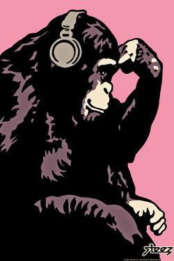 Monkey Thinker - Pink by Steez
