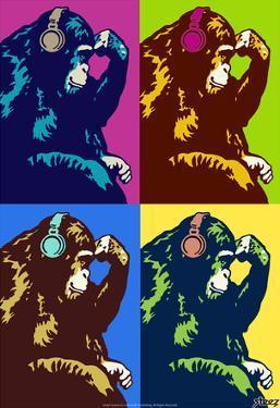Steez Monkey Thinker Quad Pop-Art