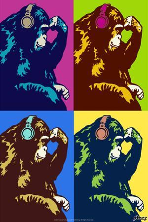 Steez Monkey Thinker Quad Pop-Art