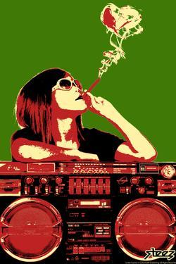 Steez Boom Box Joint - Red/Green Poster by Steez