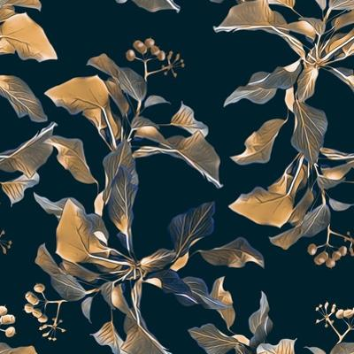 Floral Seamless Pattern. Artisticnature Background. Hand Painted Illustration. by Stefan Grau