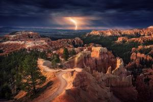 Lightning over Bryce Canyon by Stefan Mitterwallner