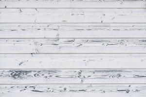 Wood Planks Painted White, Vintage Look by stefanholm