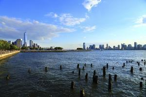 Downtown View with the Freedom Tower from the Hudson River Greenway by Stefano Amantini