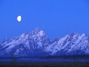 Moonlight on Grand Teton Range, Wyoming, USA by Stefano Amantini