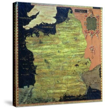 """Map of Sixteenth Century France, from the """"Sala Delle Carte Geografiche"""" by Stefano And Danti Bonsignori"""