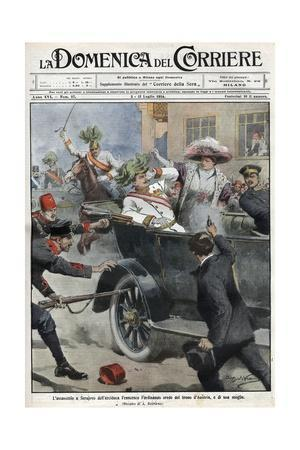 Assassination of Franz Ferdinand, Archduke of Austria, and His Wife Sophie, in Sarajevo