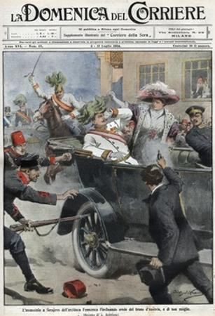 Assassination of Franz Ferdinand, Archduke of Austria, and His Wife Sophie, in Sarajevo by Stefano Bianchetti