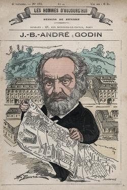 Caricature of French Social Reformer Andre Godin by Stefano Bianchetti