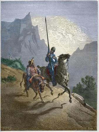 Don Quixote with Sancho Panza