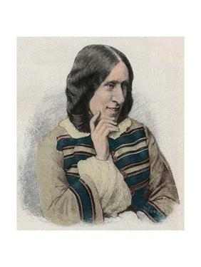 George Eliot - Portrait of the English Writer, Pseudonym of Mary Ann or Marian Evans by Stefano Bianchetti