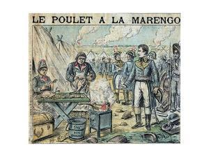 Illustration of French Soldiers Cooking Marengo Chicken by Stefano Bianchetti