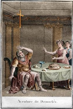 Illustration of the Sword of Damocles by Stefano Bianchetti