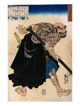 Japanese Print of a Samurai Possibly by Kunisada by Stefano Bianchetti