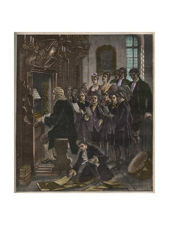 Johann Sebastian Bach Playing the Organ at the St. Thomas School