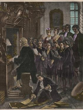 Johann Sebastian Bach Playing the Organ at the St. Thomas School by Stefano Bianchetti