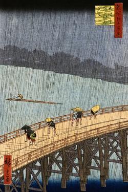 Ohashi, Sudden Shower at Atake by Ando Hiroshige by Stefano Bianchetti