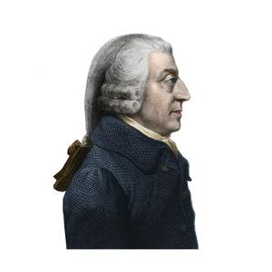 Portrait of Adam Smith (1723 -1790) Scottish Philosopher and Economics Pioneer by Stefano Bianchetti