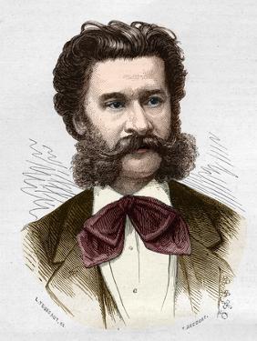 Portrait of Johann Strauss II by Stefano Bianchetti