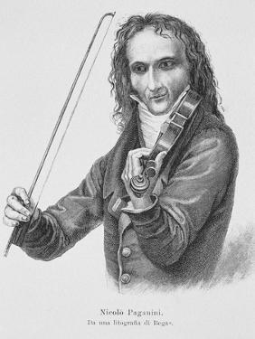 Portrait of Niccolo Paganini by Stefano Bianchetti