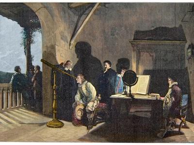 The English Poet John Milton (1608-1674) Visiting the Italian Astronomer Galileo Galilei