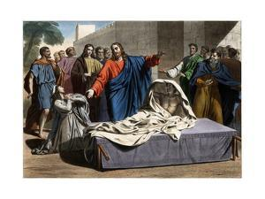 The Resurrection of the Son of the Widow of Nain 19Th-Century Print by Stefano Bianchetti