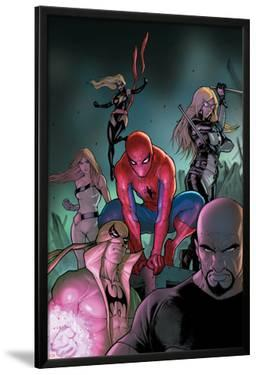 The Amazing Spider-Man No.653 Cover: Spider-Man, Luke Cage, Iron Fist, Ms. Marvel and Others by Stefano Caselli