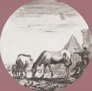 La Pyramide de Caius Cestius by Stefano della Bella