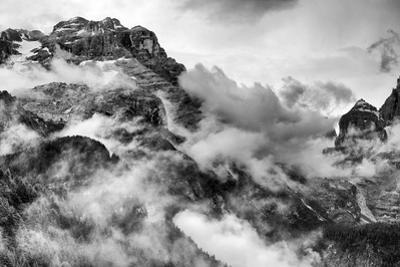 Dolomites Mountains Black and White by stefano pellicciari