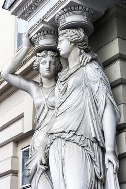 Caryatid sculpted female figure statues in the historic centre, Vienna, Austria by Stefano Politi Markovina