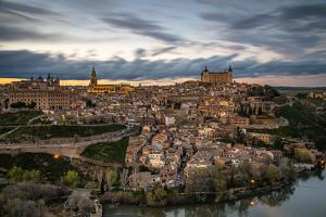 City Skyline at Sunset, Toledo, Castile La Mancha, Spain by Stefano Politi Markovina