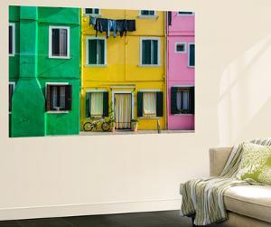 Colourful Painted Houses in Burano, Veneto, Italy by Stefano Politi Markovina