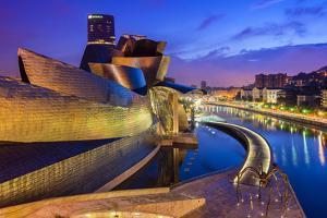 Guggenheim Museum by Night, Bilbao, Basque Country, Spain by Stefano Politi Markovina