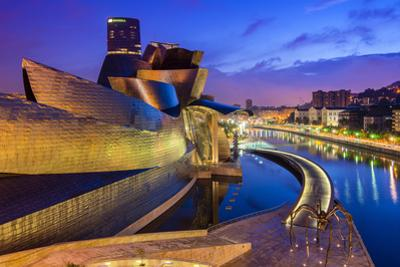 Guggenheim Museum by Night, Bilbao, Basque Country, Spain by Stefano Politi Markovina