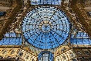 Main Glassy Dome of the Galleria Vittorio Emanuele Ii, Milan, Lombardy, Italy by Stefano Politi Markovina