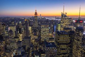 Midtown Manhattan Skyline at Dusk, New York, USA by Stefano Politi Markovina
